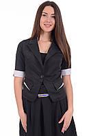 Школьная форма для старшеклассницы. Пиджак с коротким рукавом