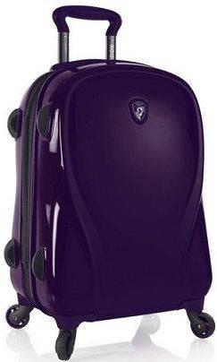 Замечательный пластиковый 4-колесный чемодан 34 л. Heys xcase 2G (S) Ultra Violet 923087 фиолетовый