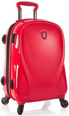 Стильный пластиковый 4-колесный чемодан 34 л. Heys xcase 2G (S) lnfra Red красный