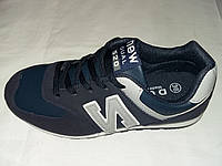 New Balance подростковые кроссовки в синем цвете