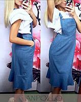 Женский джинсовый комбенизон