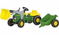 Трактор педальный с прицепом и ковшом Rolly Toys 023110