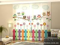 Панельная штора Забавные совы комплект 4 шт