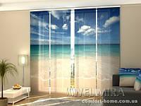 Панельная штора Золотой песок комплект 4 шт