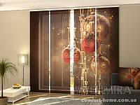 Панельная штора Рождественские декорации комплект 4 шт