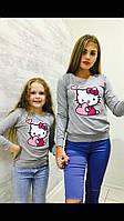 """Красивый свитшот на осень """"Kitti"""" для детей и подростков"""