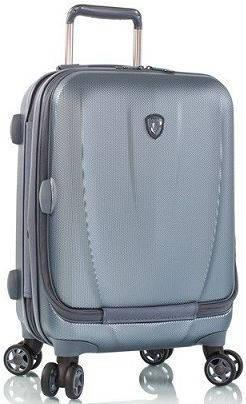 Компактный пластиковый 4-колесный чемодан 38 л. Heys Vantage Smart Luggage (S) Blue 923075, синий
