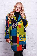 Женское легкое пальто без подкладки зеленое