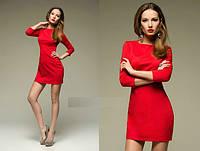 Платье красное мини основа образа трикотаж соты