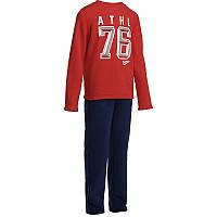 Спортивный костюм детский для мальчика Domyos WARM'Y красно синий