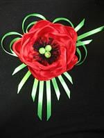 Обруч для волос с цветком (без бабочки). Цветок также можно крепить на повязку, заколку.Цвет любой