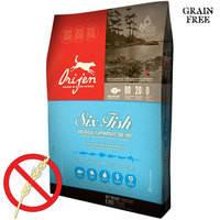 Беззерновой гипоаллергенный корм для взрослых собак всех пород Ориджен 6 Рыб Orijen 6 Fresh Fish Dog 6.8 кг.