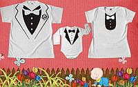 Парные футболки для мамы, папы и малыша Family look