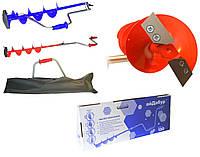 """Ледобур iDabur ™ D150 мм с ножами """"стандарт-К"""" (кованные) (в цветной коробке)"""