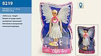 Кукла Defa Lucy 8219 Ангел свет крылья в слюде 30*19 см
