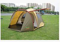 Двухслойная четырехместная палатка Green Camp X-1036 с большим тамбуром