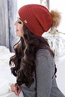 Красивая женская шапка Ирис