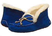 Женские  UGG Alena Blue, женские угги австралия мокасины зимние синие оригигал