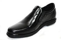 Осенние мужские туфли комфорт из натуральной кожи.