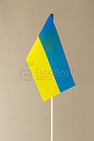 Флажок Украины 10*20 см., искуственный шелк
