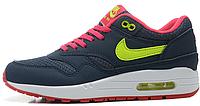Женские кроссовки Nike Air Max 87 (найк аир макс 87) синие