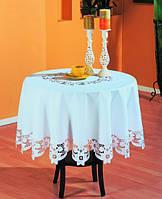 Скатерть на круглый стол 160хQ KAYAOGLU Sun. Коричневый, кремовый, белый.