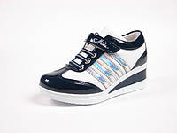 Детская спортивная обувь кроссовки:105-86 Син+Белый, Размеры: с 31 по 35