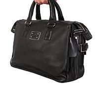 Вместительная мужская сумка с ручками черного цвета