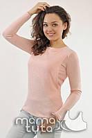Блуза с гипюром Нежно-Розовый. ТМ МамаТута