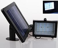 Прожектор на солнечной батарее 30 LED для наружного освещения