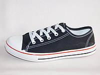 Подростковые текстильные спортивные физкультурные кеды на шнуровке черные для девочек 36-41р.