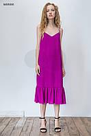 Летнее длинное платье цвета фуксии CONSUELA