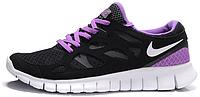 Женские кроссовки Nike Free Run Plus 2 (найк фри ран) черные