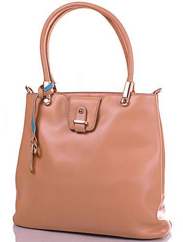 Женская сумка из кожезаменителя GUSSACI (ГУССАЧИ) TUGUS13C053-3-12 (бежевый)