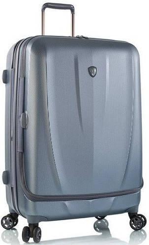 Качественный пластиковый 4-колесный чемодан 105 л. Heys Vantage Smart Luggage (L) Blue 923077, синий