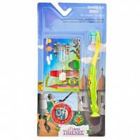 Детский набор щетка+песочные часы (3-7л.) зеленый