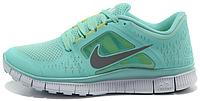 Женские кроссовки Nike Free Run Plus 3 (найк фри ран) бирюзовые