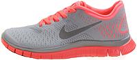 Женские кроссовки Nike Free Run Plus 3 (найк фри ран) серые