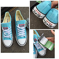 Кеды Converse низкие голубые