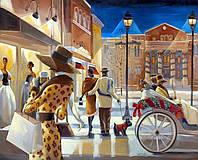 """Картина по номерам «Идейка» (КН2123) художественный творческий набор """"Вечерний променад"""" (Триш Биддл), 50x40 см"""