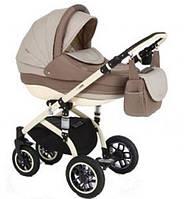 Детская коляска универсальная 2 в 1 Lara кожа 845S Adamex