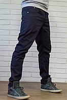 Мужские молодежные  штаны Чинос  - хлопок  т. синий