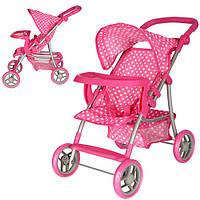 Детская прогулочная коляска для куклы Melogo 9366 T/018
