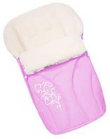 Детский зимний конверт на овчине  womar №25(розовый)