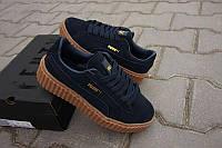 Кроссовки Puma x Rihanna Suede синие, черные, серые Pu0003