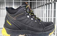 Ботинки мужские зимние Columbia кожаные черные/коричневые C0005
