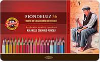 Карандаши цветные акварельные Mondeluz 36 цветов KOH-I-NOOR