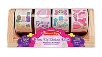 Гигантский набор наклеек на ролике для девочек, 1300 шт., Melissa&Doug
