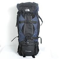 Многоцелевой туристический рюкзакThe North Face 100 L черный с темно-синими вставками
