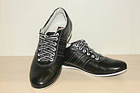 Спортивные кожаные туфли черные 40-45 р Konors.